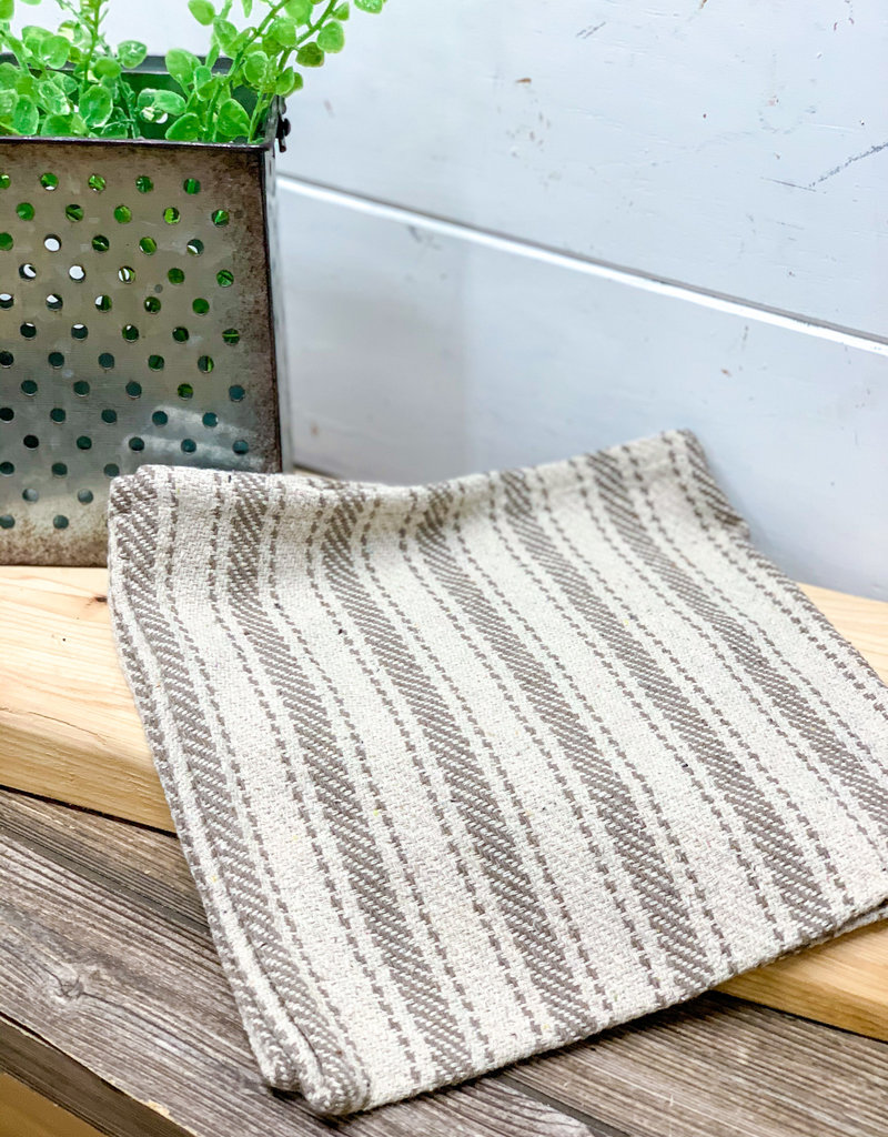 Gray Large Stripped Pattern Cloth