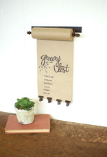 """Hanging Note Roll with 4 antique brass clips- 11"""""""
