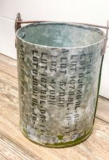 Reclaimed military canisters- set of 2