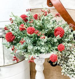"""Garden Bliss Half Sphere   10""""   Red"""