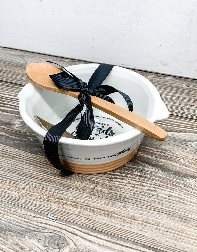 Gather Bowl w/ Wooden Spoon