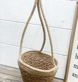 Hanging Jute Flower Pot Holder   Small