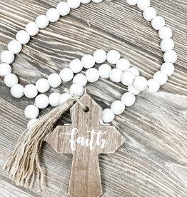 Wooden Beads   Faith