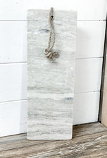 Grey Marble Long Cutting Board w/ Rope Handle