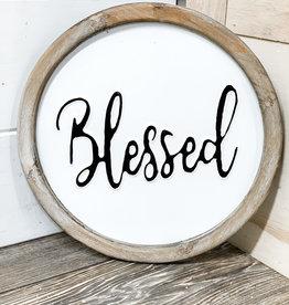 "Blessed Enamel Sign | 12"""