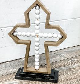 Beaded Tabletop Cross