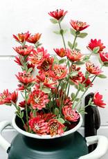 "Favored Florets Bush | 17"" | Red"