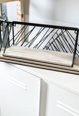 Wood & Metal Wall Shelves   Set/3