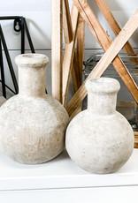 Carved Round Wooden Bottles | Set of 2