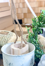 Hand Carved Hanging Wooden Vase