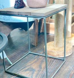 Wood & Metal Tabletop Riser   Tall Square