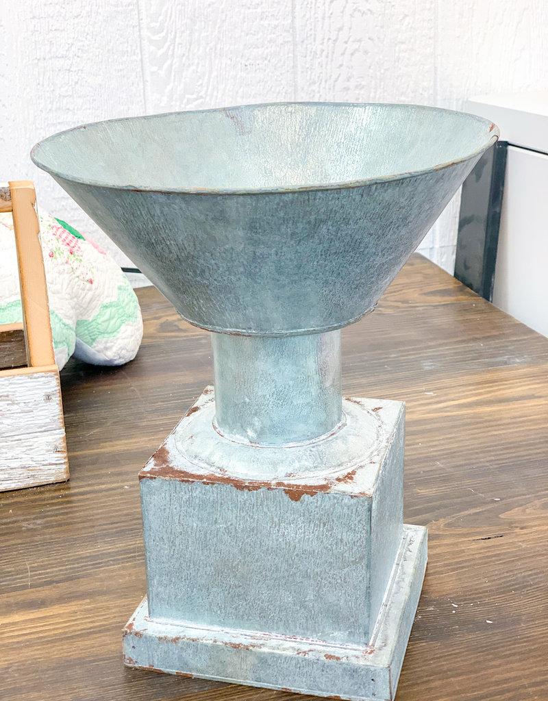 Gray Zinc Trophy Planter
