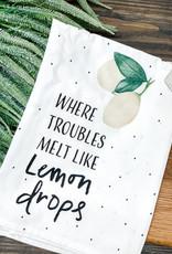 Lemon Drops Dish Towel