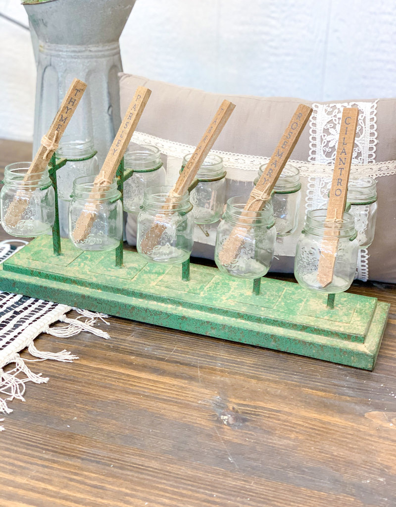 Mason Jar Planter Center Piece