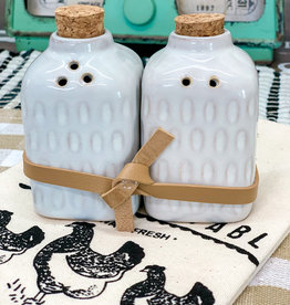 Glazed S & P Shakers | Square