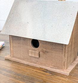 Wood & Metal Birdhouse