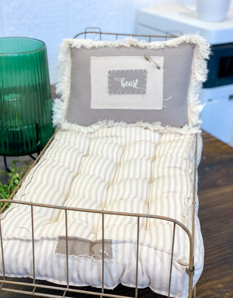 Antique Metal Doll Bed
