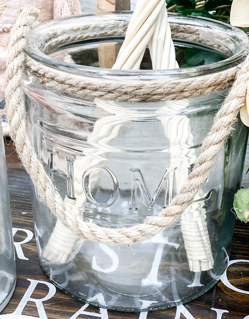 Glass Home jar with Rope Handle   Large