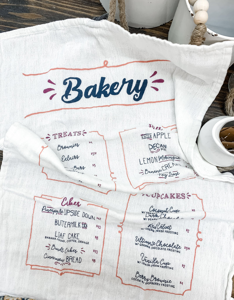Bakery Cotton Tea Towel