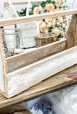 Distressed White Caddy | Large