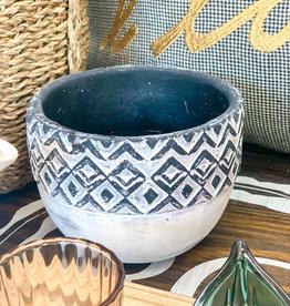 Geometric Ceramic Bowl