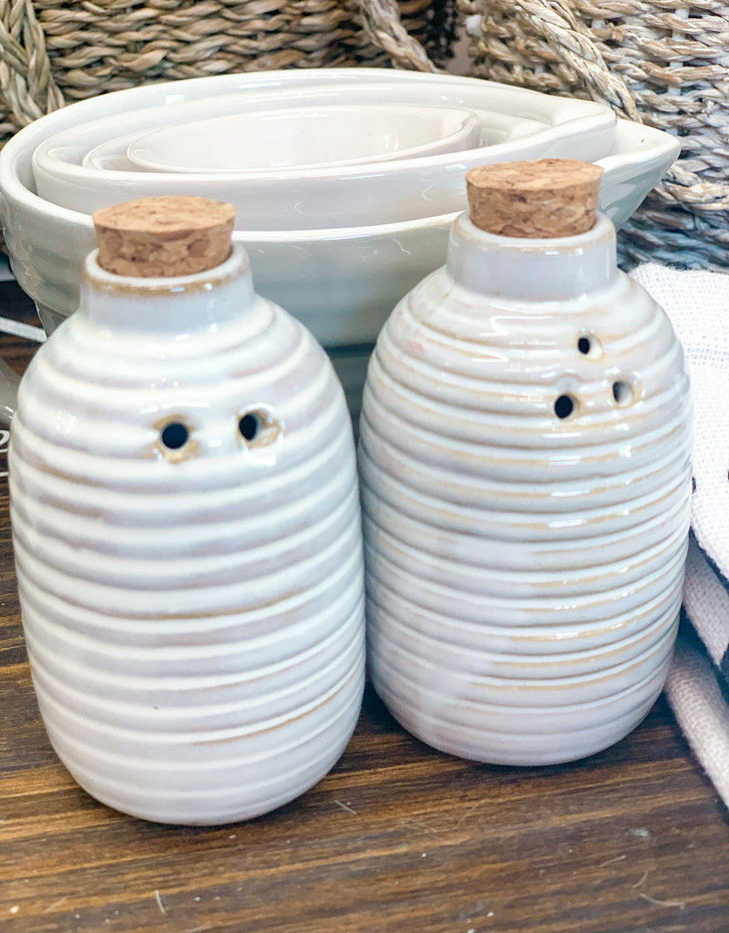 Glazed S & P Shakers | Round