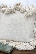 "18"" Square Cotton Slub Pillow"