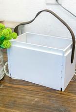 Shiplap Crate w/ Bridle Strap | Small