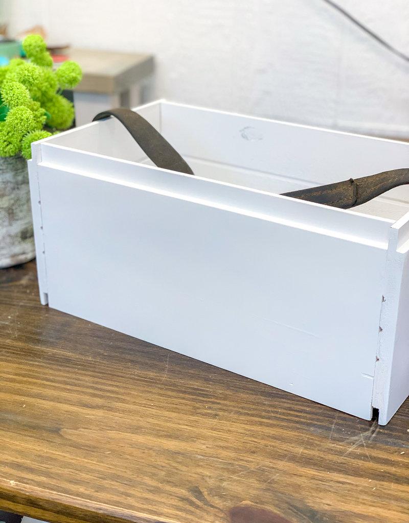 Shiplap Crate w/ Bridle Strap | Medium