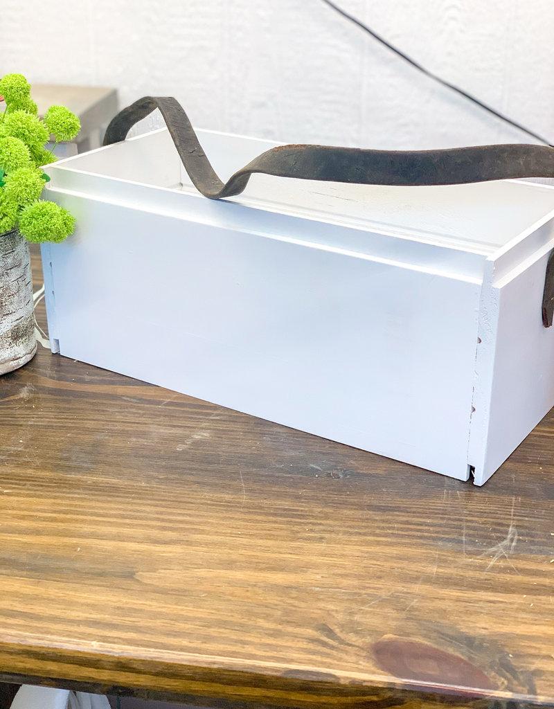 Shiplap Crate w/ Bridle Strap | Large