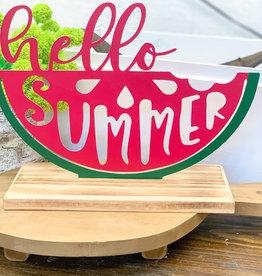 Hello Tabletop Watermelon Sign