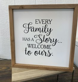 Welcome to Our Story Sign