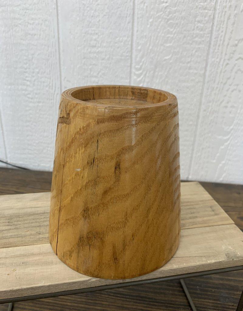 Wooden Candle Pillar