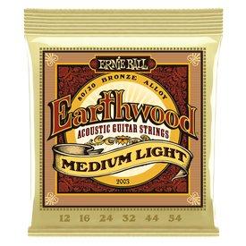 Ernie Ball Ernie Ball 2003 Earthwood Medium Light 80/20 Bronze Acoustic Guitar Strings