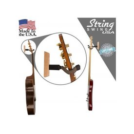 String Swing String Swing CC01K Guitar Hanger Wall Mount - Cherry