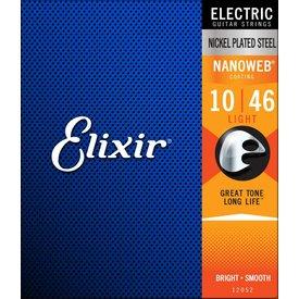 Elixir Strings Elixir Strings 12052 Electric Nickel Plated Steel with Nanoweb Coating Super Light .010-.046