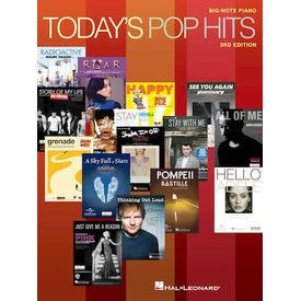 Hal Leonard Today's Pop Hits – 3rd Edition for Big-Note Piano