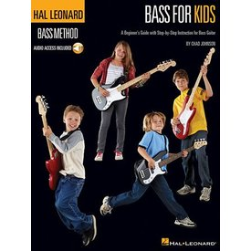 Hal Leonard Hal Leonard Bass for Kids A Beginner's Guide with Step-by-Step Instruction for Bass Guitar