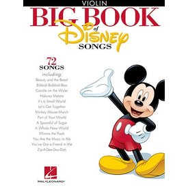 Hal Leonard The Big Book of Disney Songs for Violin