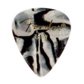 Fender Premium Celluloid 351 Shape Picks Thin Zebra 12 Count