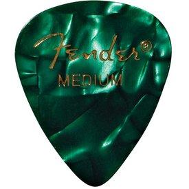 Fender Premium Celluloid 351 Shape Picks Medium Green Moto 12 Count