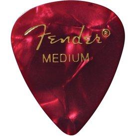 Fender Premium Celluloid 351 Shape Picks Medium Red Moto 12 Count