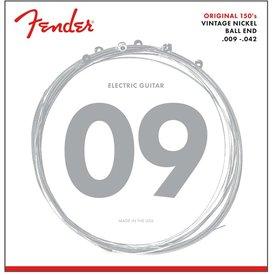 Fender Original 150 Guitar Strings Pure Nickel Wound Ball End 150L .009-.042 Gauges