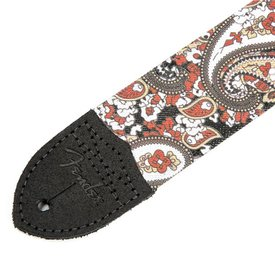 "Fender Paisley Denim Strap, 2"" Red"