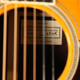 Santa Cruz Santa Cruz Guitars OM Adirondack Top/Indian Rosewood/Adirondack Bracing Hot Hide Glue S/N 5585
