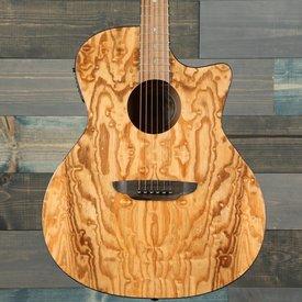 Luna Luna Guitars GYP E QA GN Gypsy Quilt Ash A/E Gloss Natural