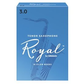 DAddario Woodwinds Royal by D'Addario Tenor Sax Reeds, Strength 2, 3-pack