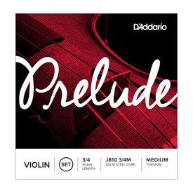 DAddario Orchestral D'Addario Prelude Violin String Set, 3/4 Scale, Medium Tension