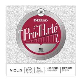 DAddario Orchestral D'Addario Pro-Arte Violin String Set, 3/4 Scale, Medium Tension