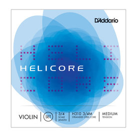DAddario Orchestral D'Addario Helicore Violin String Set, 3/4 Scale, Medium Tension